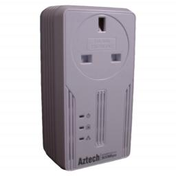 Aztech 500AV HomePlug Adapter with Mains Pass Through and 1Gig Ethernet Port