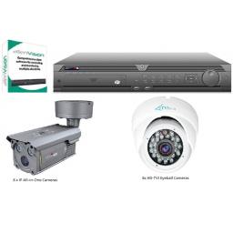 System Q MaxPIX IP-TVI Crossover Bundle with 16 Cameras (8x IP All-in-One + 8x HDTVI Eyeball Cameras)