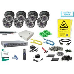 System Q MegaHero 8x  HDTVI IR Eyeball Kit (Grey or White)