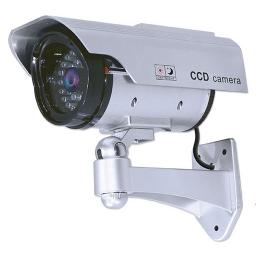 Silver Decoy Bullet CCTV camera with Solar Rechargable IR LEDs