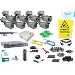 System Q MegaHero Kit with 8x HD-TVI All-In-One IR Cameras
