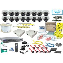 System Q KIT819 AlienMax HD-SDI Kit with 16 HDSDI Dome Cameras