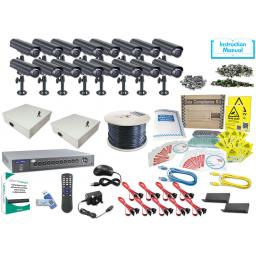 System Q KIT813 HDSDI Kit with 16 Mini-Bullet Cameras