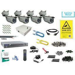 System Q MegaHero Kit with 4x HD-TVI All-In-One IR Cameras