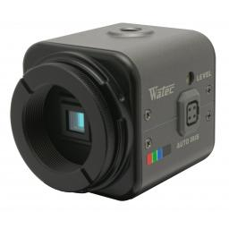 "Watec 600CX 540TVL 1/3"" Miniature Colour Camera with Single Coax for Power and Video"