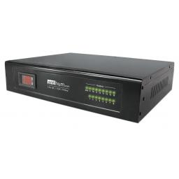 System Q POW570/2 AntiHum 9 or 17 way Rack-Mount Power Supply with LCD Dispay