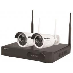 Secyour 1080P 8 Channel WiFi IP CCTV Kit with 2 Cameras